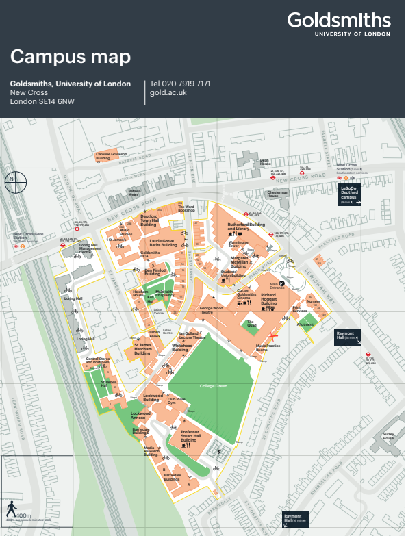 Goldsmiths_site_map